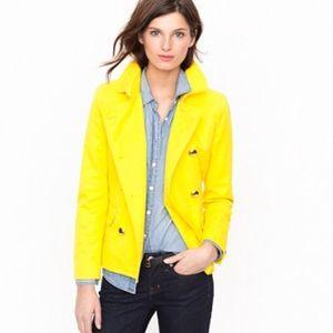 J. Crew Trudy Peacoat Lemon Twist Jacket Yellow 8